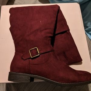Just Fab Burgundy Over the knee boots
